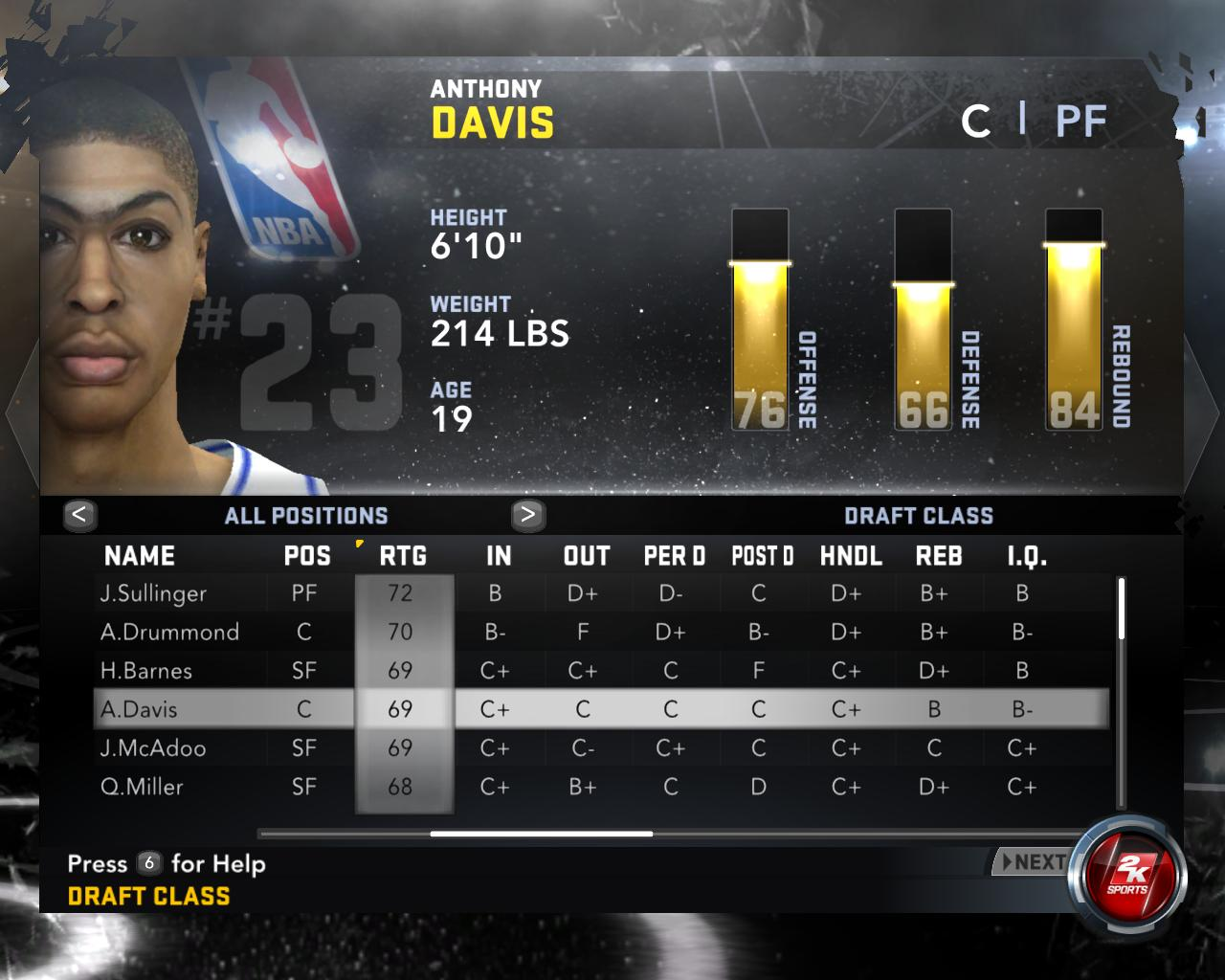 NBA 2K12 2012 Draft Cl With Faces V1
