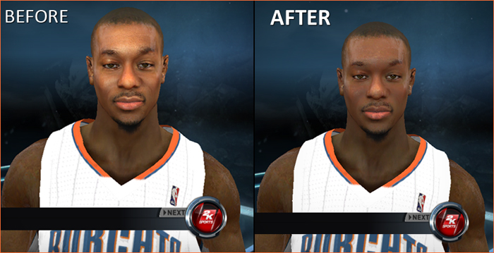 NBA 2K12 Kemba Walker Cyberface Patches