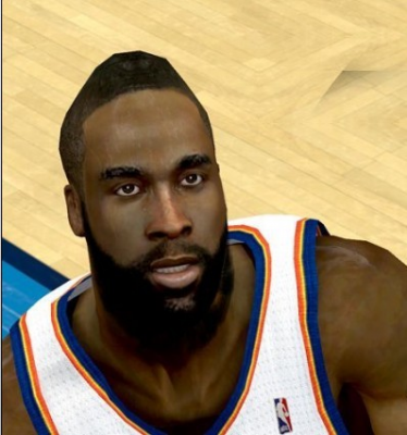NBA 2K12 James Harden Cyberface Patches V2