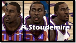 Amar'e Stoudemire Cyberface Patches for NBA 2K10
