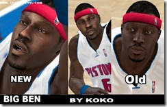 Ben Wallace Cyberface Patches for NBA 2K10