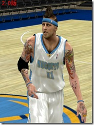 Chris Andersen Cyberface Patches for NBA 2K10