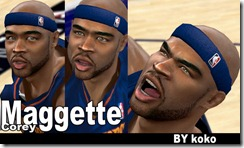 Corey Maggette Cyberface Patches for NBA 2K10