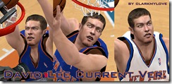 David Lee Cyberface Patches for NBA 2K10