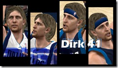 Dirk Nowitzki Cyberface Patches for NBA 2K10