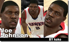 Joe Johnson Cyberface Patches for NBA 2K10