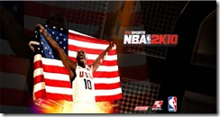 Kobe Bryant with flag Startup Screens for NBA 2K10