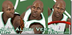 Ray Allen Cyberface Patches for NBA 2K10