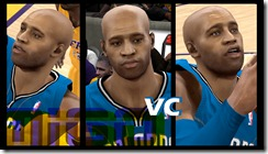 Vince Carter Cyberface Patches for NBA 2K10