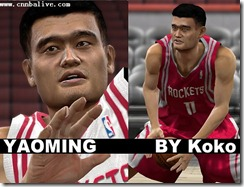 Yao Ming Cyberface Patches for NBA 2K10