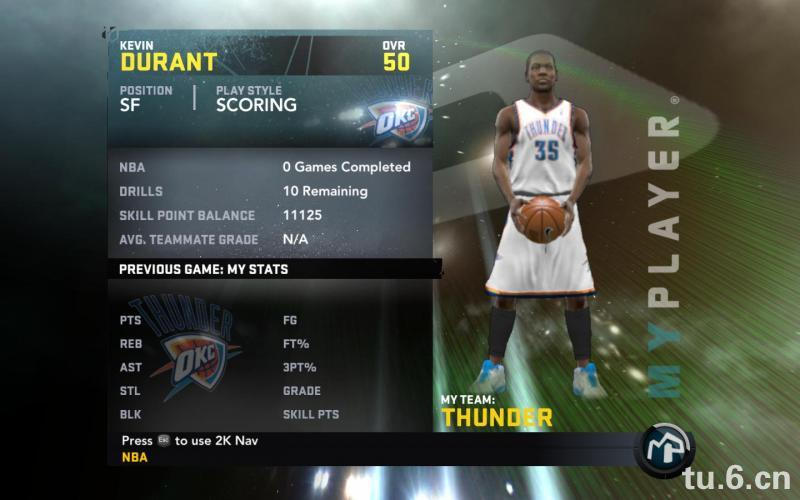 Kevin Durant My Player Patches for NBA 2K11