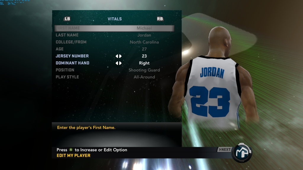 Michael Jordan My Player Patches for NBA 2K11