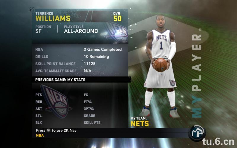 Terrence Williams My Player Patches for NBA 2K11