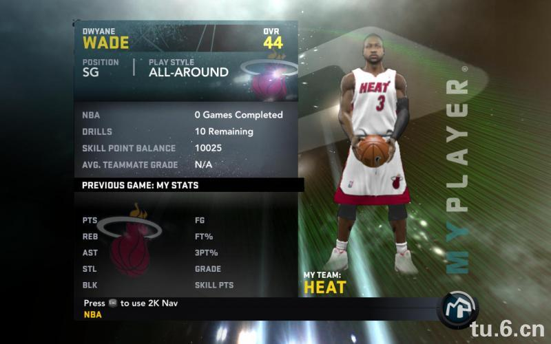 Dwyane Wade My Player Patches for NBA 2K11 with 44 Overall Ratings