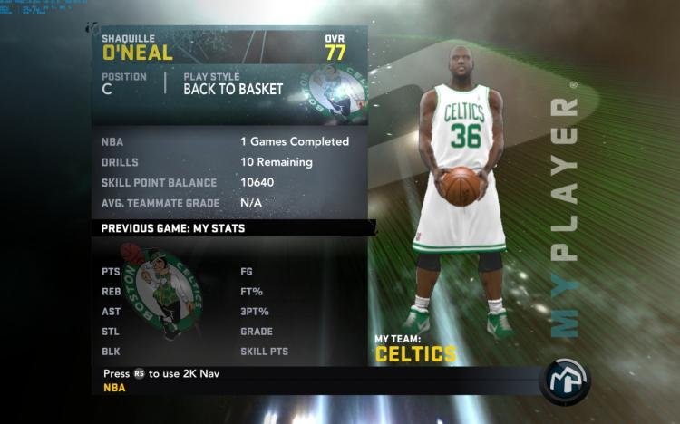 Shaquille ONeal My Player Patches for NBA 2K11