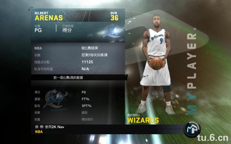 Gilbert Arenas My Player Patches for NBA 2K11