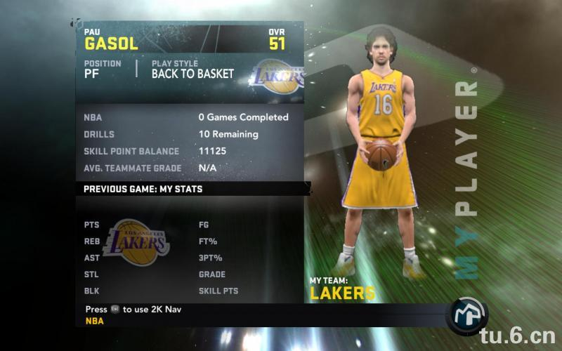 Pau Gasol My Player Patches for NBA 2K11